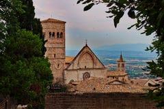 Церковь Сан Francesco в Assisi стоковые изображения