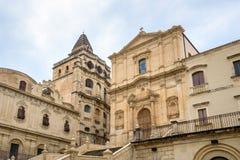 Церковь Сан Francesco Assisi в Noto стоковое изображение rf