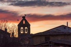 Церковь Сан Mames в Micereces de Tera в провинции Zamora Испании стоковая фотография