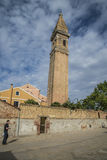 Церковь Сан Martino в Burano Стоковое Изображение