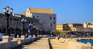 Церковь Сан Nicola, вид сзади от прогулки Бари Стоковые Изображения RF