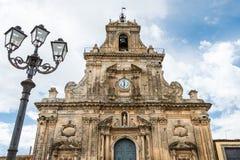 Церковь Сан Sebastiano в Palazzolo Acreide, Siracusa, Сицилия, Стоковые Изображения RF