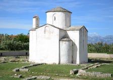 Церковь святого креста, Nin, Хорватия Стоковые Фото