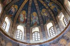 Церковь святого спасителя в Chora, Kariye Muzesi Стоковые Изображения RF