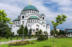 Церковь Святого Sava, Белграда, Сербии Стоковое фото RF