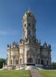 Церковь святой девственницы в Dubrovitsy Стоковое Фото