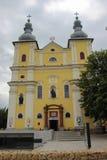 Церковь святой троицы римско-католическая - конематка Baia, Румыния стоковое изображение rf