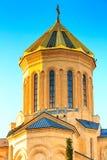Церковь святой троицы, Tsminda Sameba, Тбилиси, Georgia стоковое изображение rf