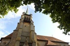 Церковь Свят-Francois в Лозанне, Швейцарии Стоковое Изображение