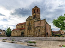 Церковь Свят-Pierre-et-Пола, Rosheim, Эльзас, Франция Стоковое Изображение RF