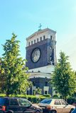 Церковь священного сердца лорда в Праге, чехии стоковое изображение rf