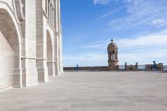 Церковь священного сердца Иисуса на горе Tibidabo Стоковые Изображения