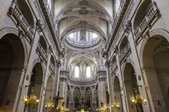 Церковь Сент-Луис Сен-Поль, Париж, Франция Стоковое Изображение