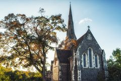 Церковь Сент-Олбанса, Копенгаген, Дания Стоковые Изображения RF