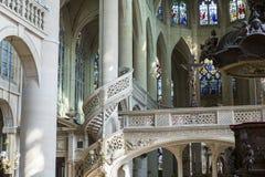 Церковь Сент-Этьен du mont, Париж, Франция Стоковое фото RF