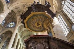 Церковь Сент-Этьен du mont, Париж, Франция Стоковое Изображение