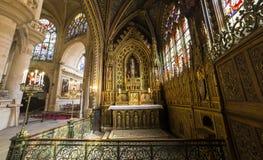 Церковь Сент-Этьен du mont, Париж, Франция Стоковые Фото