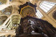Церковь Сент-Этьен du mont, Париж, Франция Стоковое Изображение RF