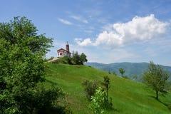 Церковь сиротливого холма Стоковые Фотографии RF