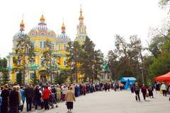 Церковь собора в Алма-Ате стоковое фото