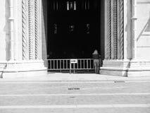 Церковь собора в Como в черно-белом Стоковые Фотографии RF