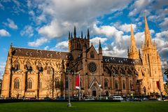 Церковь собора и небольшая базилика безукоризненной матери бога, помощи христиан, Сиднея стоковое изображение rf