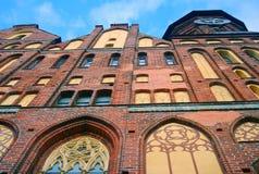 Церковь собора на острове Kant, Калининграде Стоковые Изображения RF