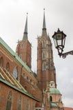 Церковь собора St. John баптист, Wroclaw, Польша Стоковая Фотография RF