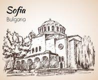 Церковь София Sveta Nedelya София, Болгария эскиз иллюстрация штока