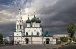 Церковь спасителя на городке yaroslavl России стоковое фото rf