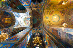 Церковь спасителя на крови, Санкт-Петербурга, России Стоковая Фотография RF