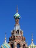 Церковь спасителя на крови Христоса, или церковь спасителя на крови в Санкт-Петербурге Стоковое Изображение