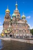 Церковь спасителя на разлитой крови в Санкт-Петербурге, России Стоковая Фотография