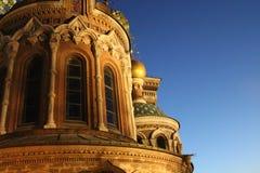 Церковь спасителя на разлитой крови в Санкт-Петербурге Стоковое Изображение