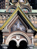 Церковь спасителя на разлитой крови в Санкт-Петербурге Стоковое Фото