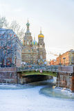 Церковь спасителя на разлитой крови в Санкт-Петербурге Стоковое Изображение RF