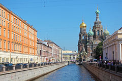 Церковь спасителя на разлитой крови, Санкт-Петербурга Стоковые Фотографии RF