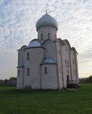 Церковь спасителя на Nereditsa Стоковое Фото