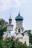 Церковь спуска святого духа Fount предположения он часовня St Sergius Lavra святой троицы Стоковое фото RF