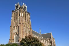 Церковь средневекового протестанта большая в Dordrecht Стоковые Фотографии RF