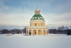 Церковь стиля барокко рождества девственницы в Podmoklovo Стоковая Фотография