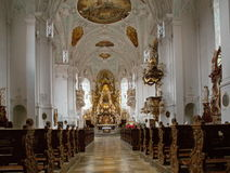 Церковь с алтаром neumann balthasar Стоковые Изображения