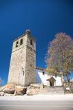 Церковь с гнездем аиста Стоковое Фото