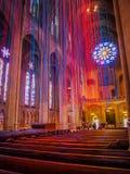 Церковь с лентами света Стоковое Изображение RF