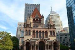 Церковь троицы Бостона, США Стоковая Фотография