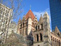 Церковь троицы, квадрат Copley, Бостон, Массачусетс, США Стоковое Фото