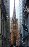 Церковь троицы Уолл-Стрит Стоковые Изображения RF