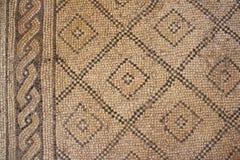Церковь умножения хлебцев и рыб, части византийского пола мозаики, Tabgha стоковое фото