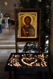 Церковь умножения хлебцев и рыб, Tabgha Стоковое фото RF