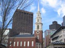 Церковь улицы парка, Бостон, Массачусетс, США Стоковая Фотография RF